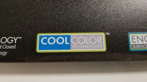 Spot white ink under logo